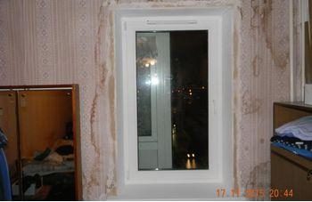 Установка одностворчатого пластикового окна